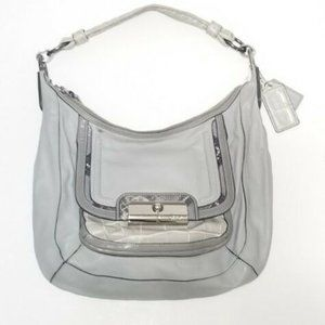 Coach Kristin Leather Gray Python Bag .